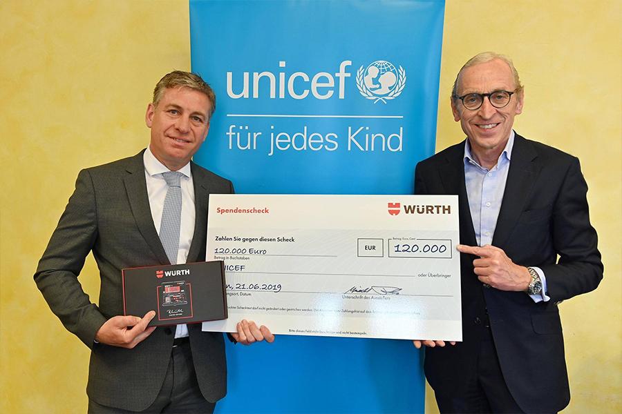 120.000 eurós Würth-adomány